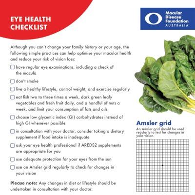 Eye health checklist