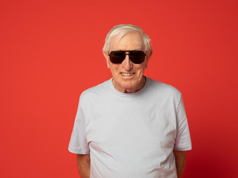 Image of senior man in sunglasses