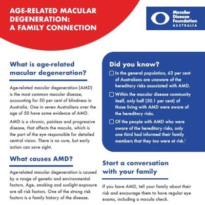 AMD family history fact sheet