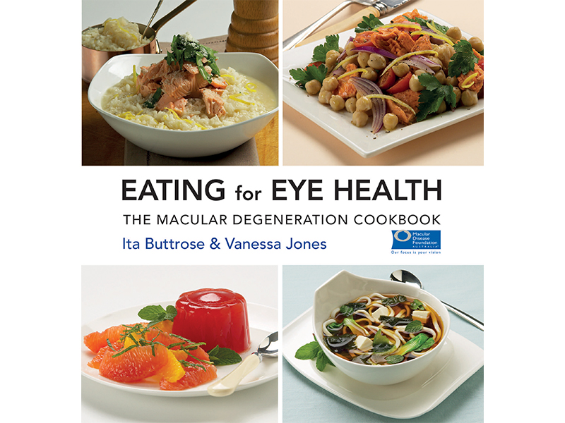 Cover of the Eating for Eye Health cookbook.