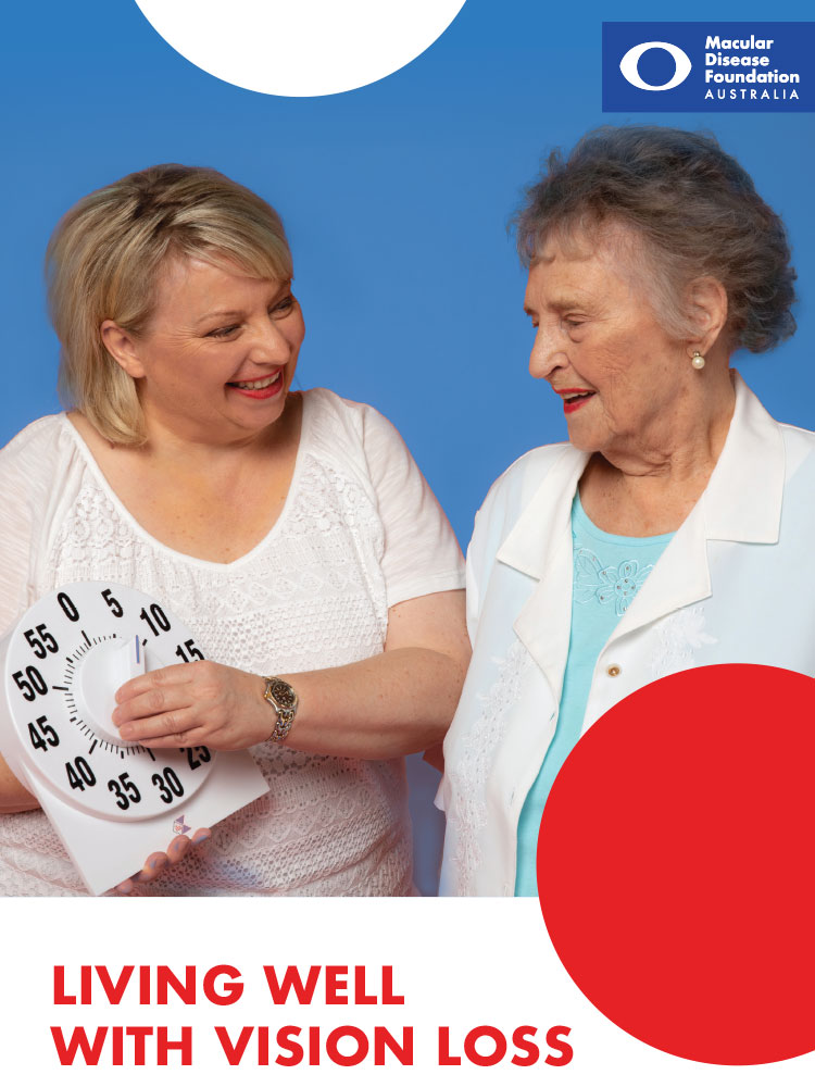 Cover of the Living Well with Vision Loss booklet