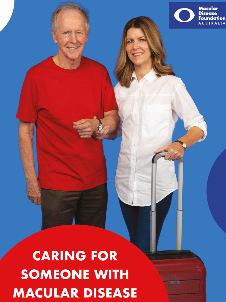 An image of the cover of the Caring for someone with macular disease resource book