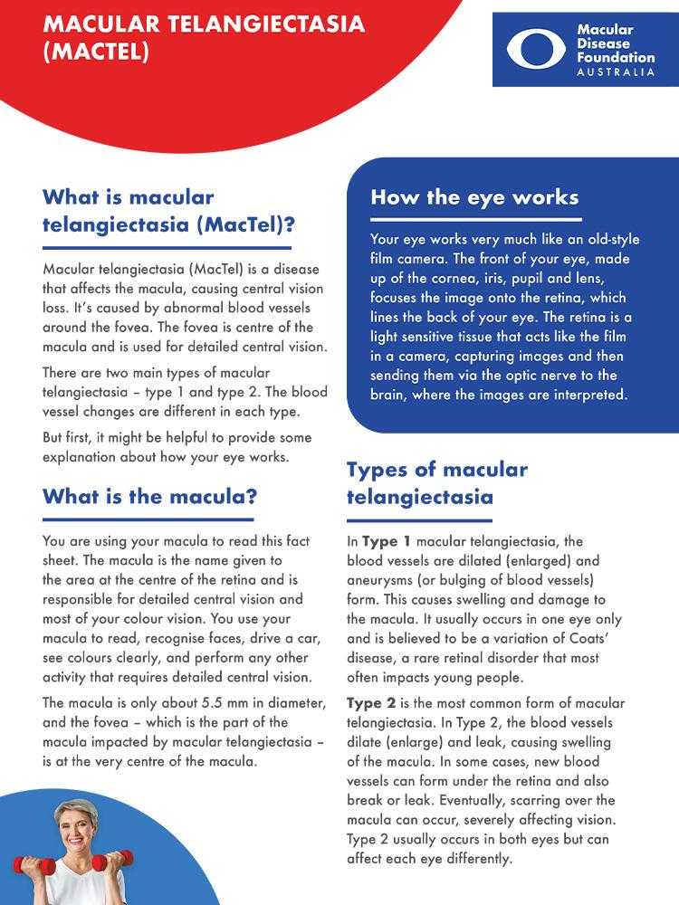 Cover of MacTel fact sheet