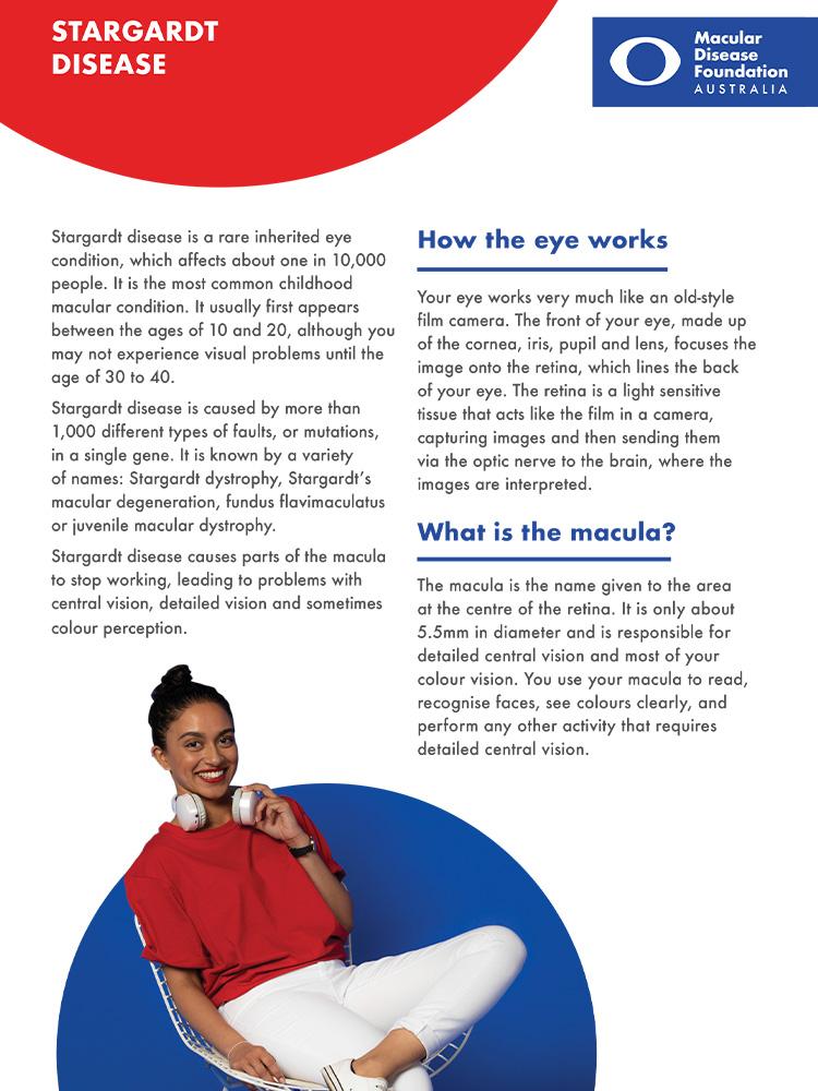 cover of stargardt disease fact sheet